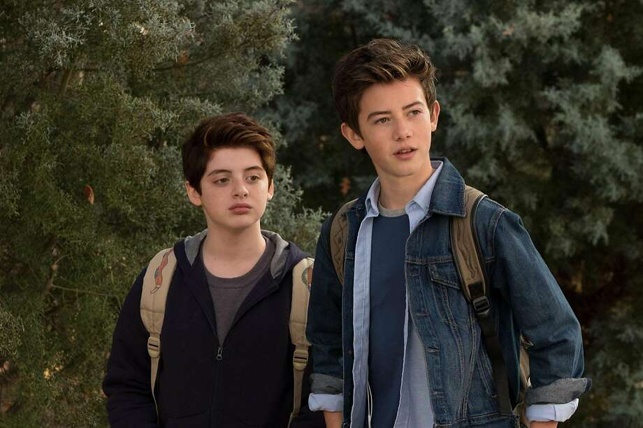 """Thomas Barbusca (left) as Leo and Griffin Gluck as Rafe navigate the magic hour between childhood and grown-up responsibilities in """"Middle School: The Worst Years of My Life."""" Photo: CBS Films, TNS"""