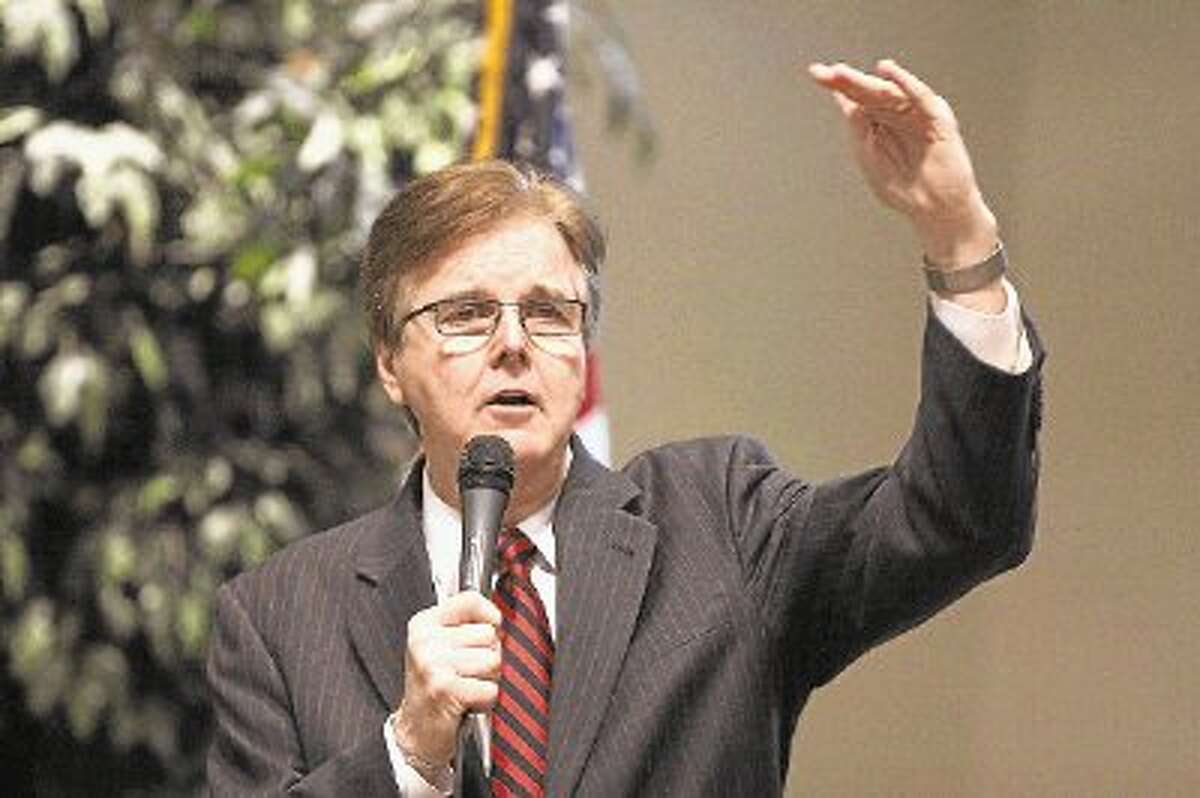 State Sen. Dan Patrick last month at a candidate's forum in Sugar Land.