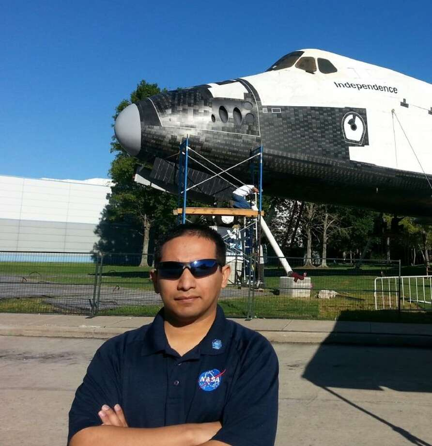 Gabe Rangel, a 2002 Cleveland High School graduate, long dreamed of working for NASA. He is now a Mission Briefing Officer and a Level Nine Tour Guide for the prestigious association. Photo: Submitted Photo