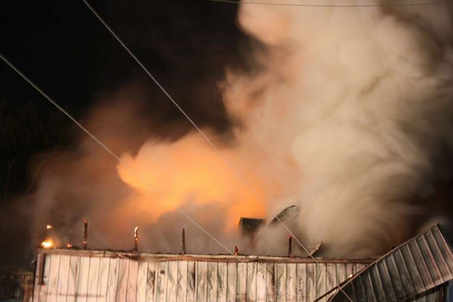 A fire destroyed an Islamic Institute building Friday (Feb. 13). Photo: Robert Avery