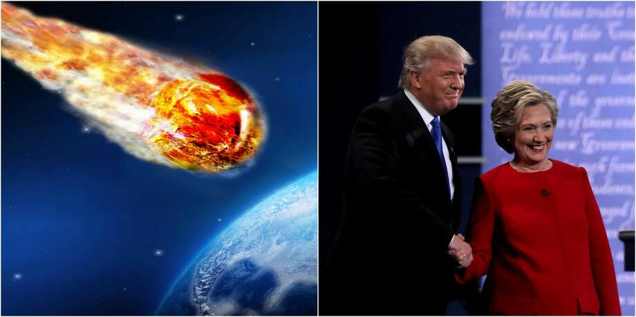 Since 2012, there has been a tongue-in-cheek movement for a candidate of a different sort, the kind that would fundamentally change the entire planet and kill us all in the process.For many people Sweet Meteor of Death has been a much-needed, light-hearted distraction during this election cycle, attracting more than 32,000 Twitter followers in the process. Photo: Getty Images