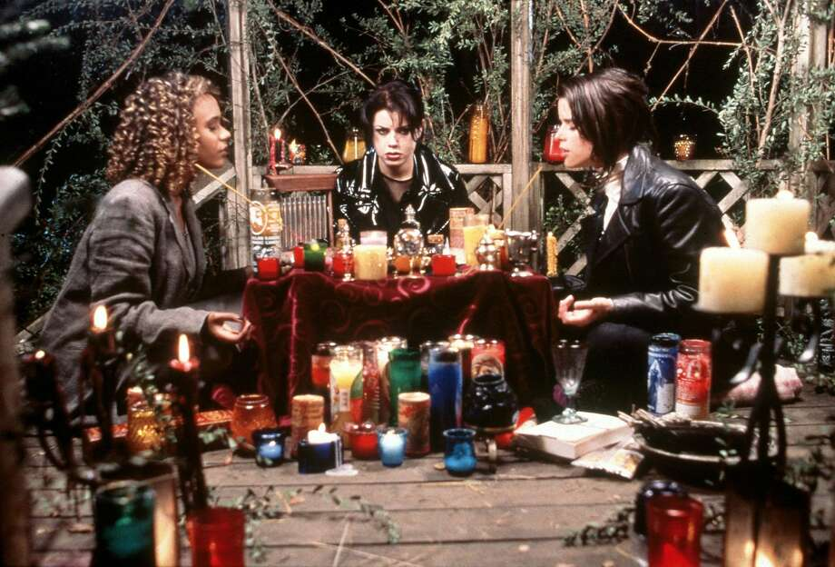 1298318 THE CRAFT: DOUBLE, DOUBLE, TOIL AND TROUBLE. Rochelle (Rachel True, L), Nancy (Fairuza Balk, C) and Bonnie (Neve Campbell, R) summon the spirits with their newfound supernatural powers in the world broadcast premiere of THE CRAFT Wednesday, Jan.  6 (8:00-10:00 PM ET/PT) on FOX.  1998 FOX BROADCASTING COMPANY CR: FOX Photo: STF, FOX