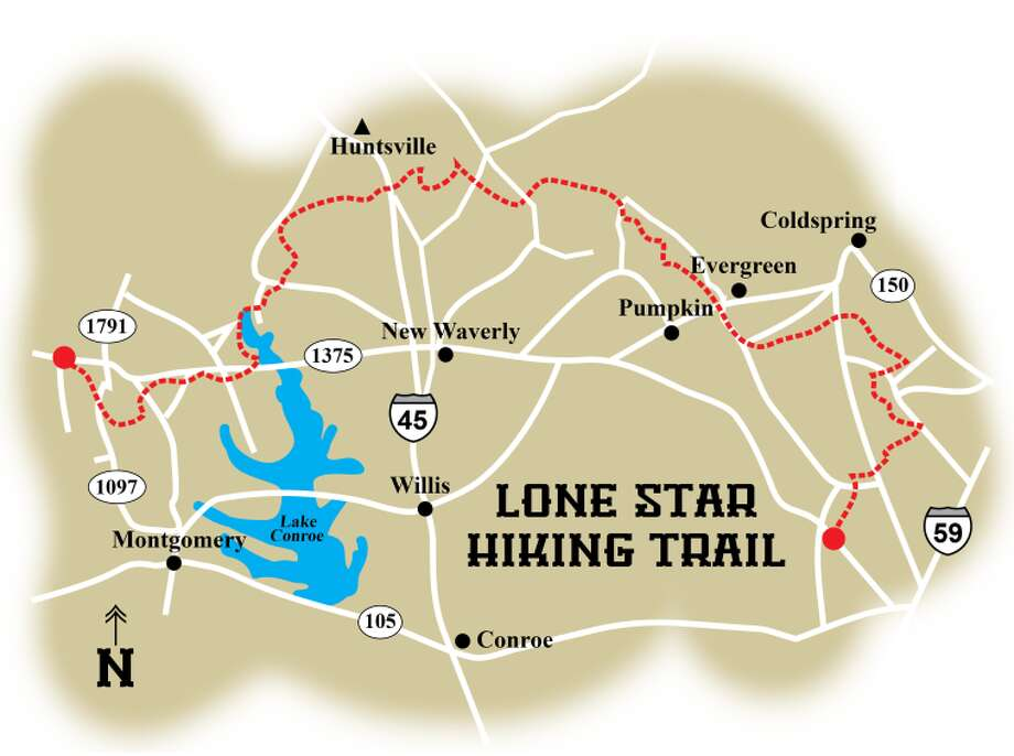 The 129-mile Lone Star Hiking Trail