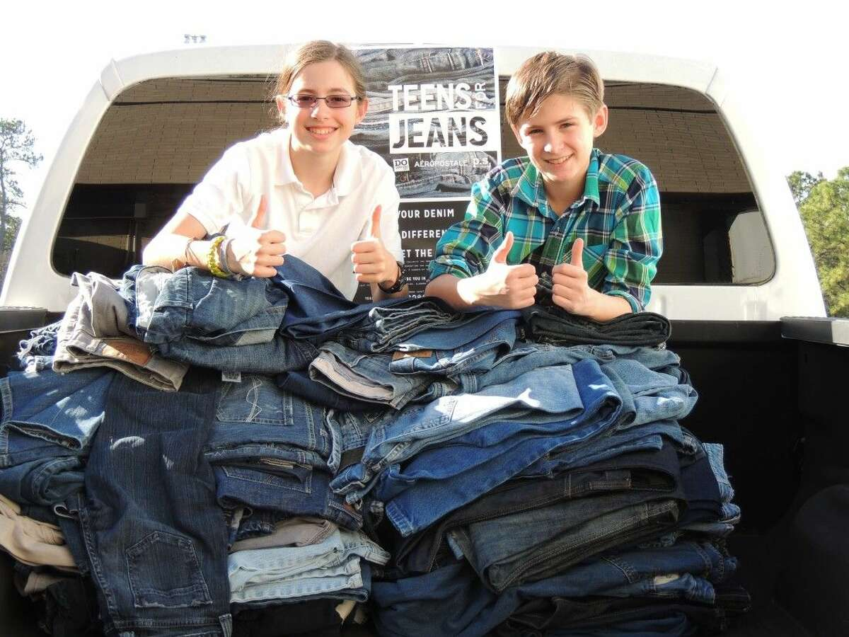 Summerwood resident Aiden Murphy and fellow homeschooler, Brandon Pentecost, worked to collect jeans from the local homeschool community and also worked with businesses in the community to collect donations.