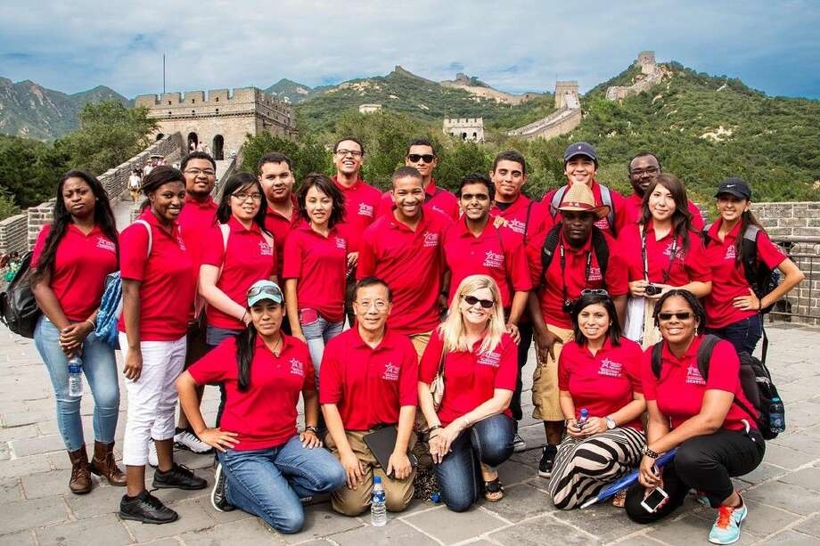 The Honors College at Lone Star College offers a wide range of opportunities for high-achieving students. Pictured are LSC Honors College students who visited the Great Wall of China as part of trip to that country to expand their horizons and explore different cultures.