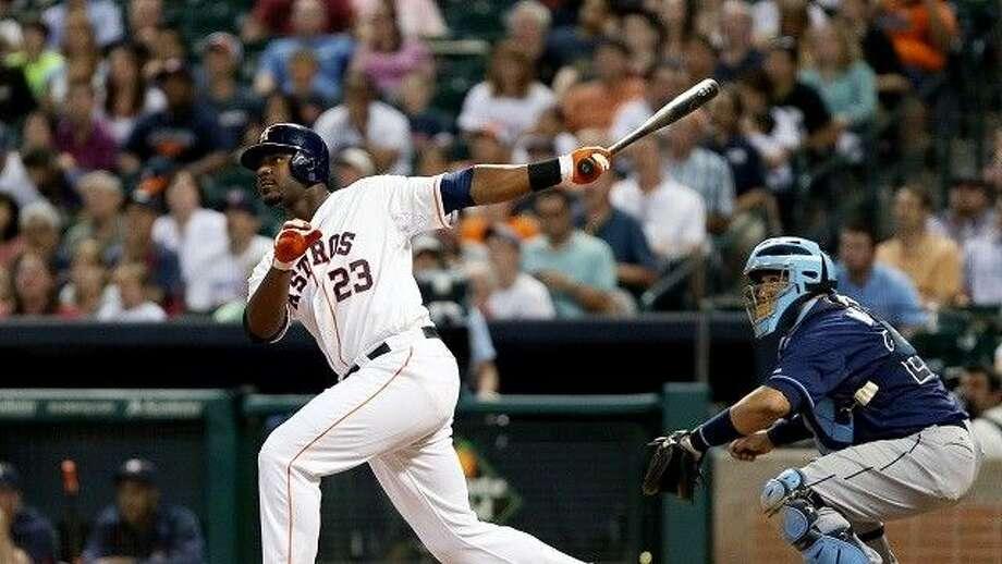Houston Astros' Chris Carter hit 37 home runs last year.