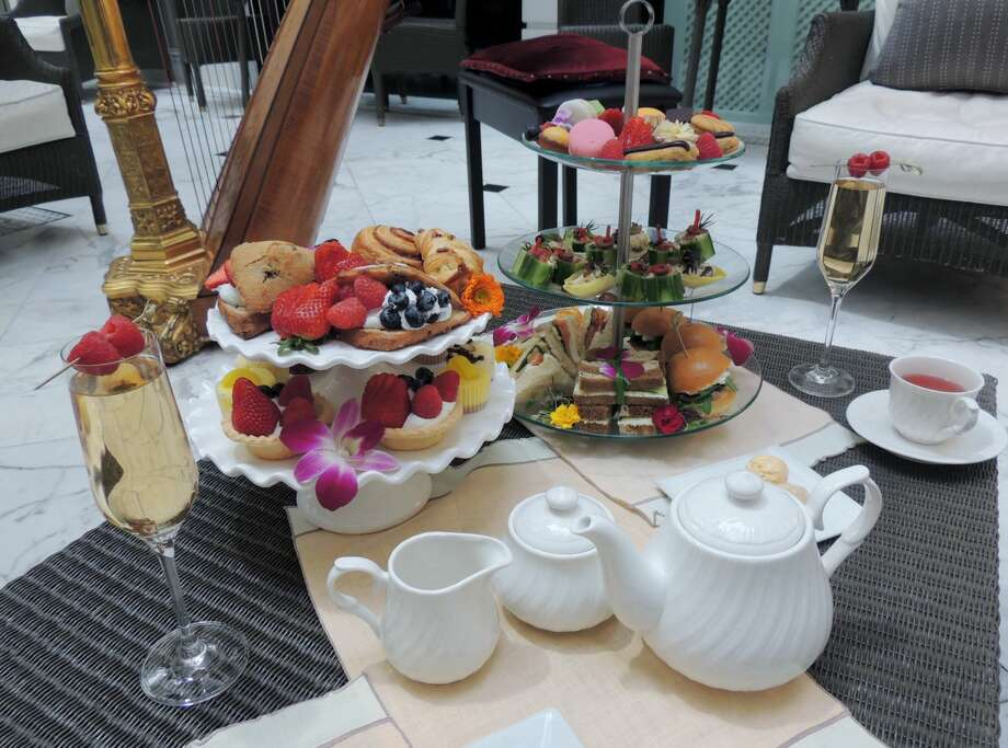 Afternoon tea at The Tremont House in Galveston
