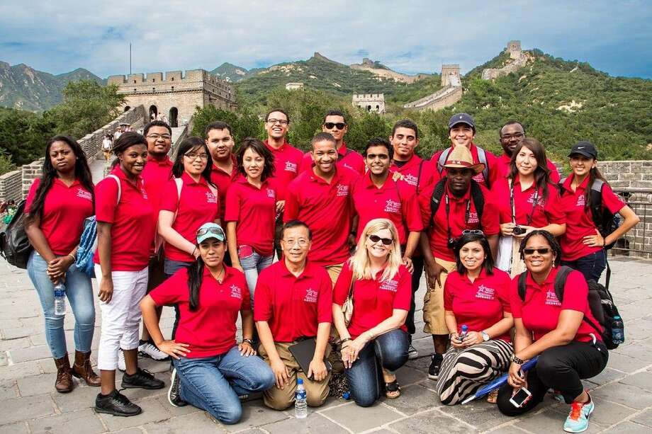 The Honors College at Lone Star College offers a wide range of opportunities for high-achieving students. Pictured are LSC Honors College students who visited the Great Wall of China as part of trip to that country to expand their horizons and explore different cultures. Photo: Submitted Photo