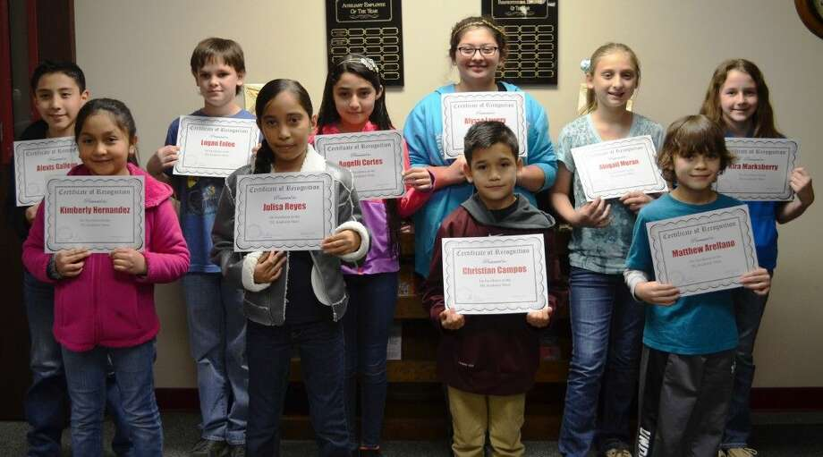 Principal Dr. Carolyn King recognized her students who placed at the recent UIL Academics Meet. The event was held on Saturday, Jan. 24 in Coldspring.