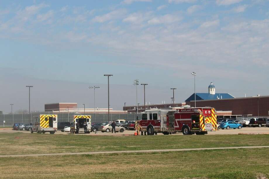 The two girls were airlifted to Memorial Hermann hospital after landing in Dawson High's parking lot.