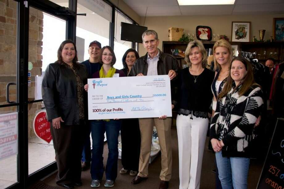 Boys and Girls Country was the first recipient of a donation from the newly opened Resale with a Purpose, a Christian 501 (c) 3 non profit tax deductible organization which helps local charities and community members by adding value to their donations. Photo: Submitted Photo