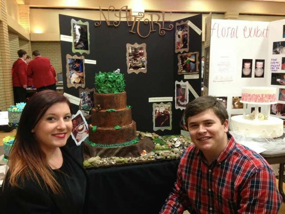Cypress Woods students Shelby Richey and Kyle Wagner won first place to qualify for state. Photo: Submitted Photo