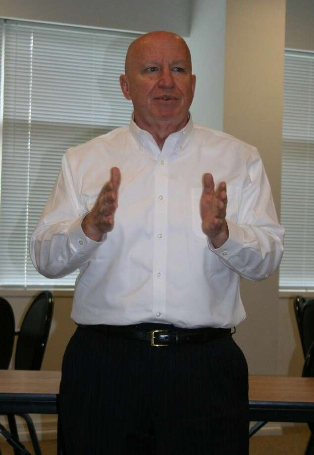 U.S. Representative Kevin Brady (District 8 - Texas) speaks to community leaders at the East Montgomery County Improvement District building in New Caney on Feb. 17.