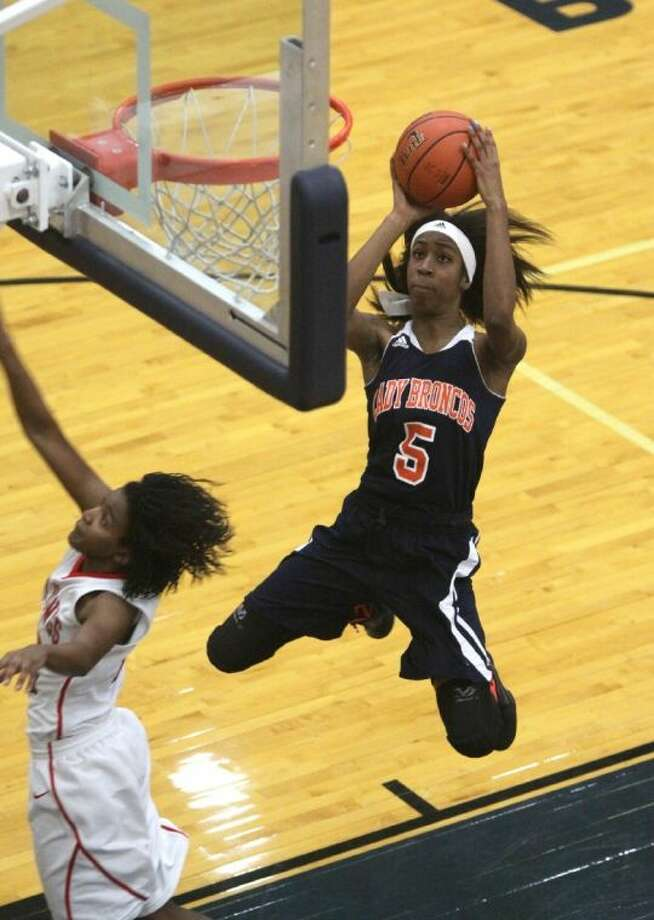 Bush's Crystal Chidomere won the District 23-5A MVP award as the Lady Broncos repeated as league and bi-district champions. Photo: Alan Warren