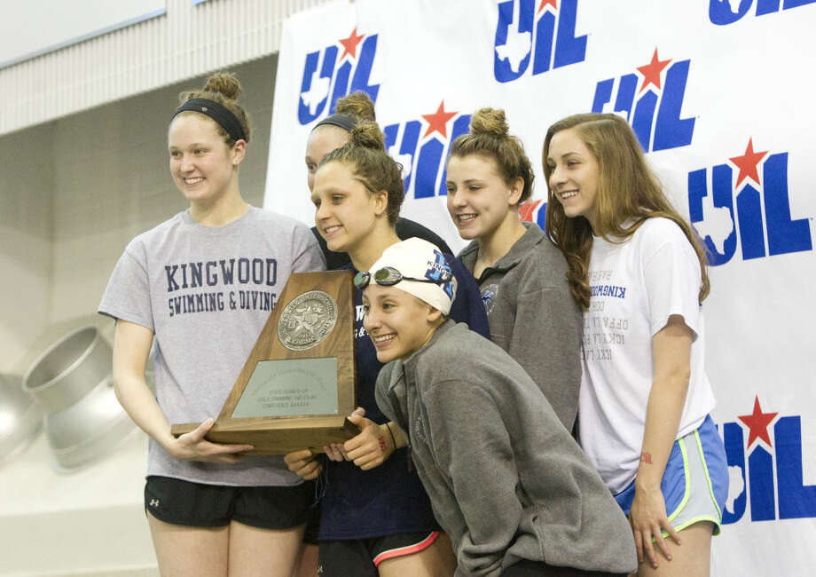 Kingwood girls finished second as a team at the Class 6A UIL State Swimming & Diving Championships in Austin Saturday, Feb. 21, 2015. Go to HCNpics.com to view more photos from the event. Photo: Jason Fochtman