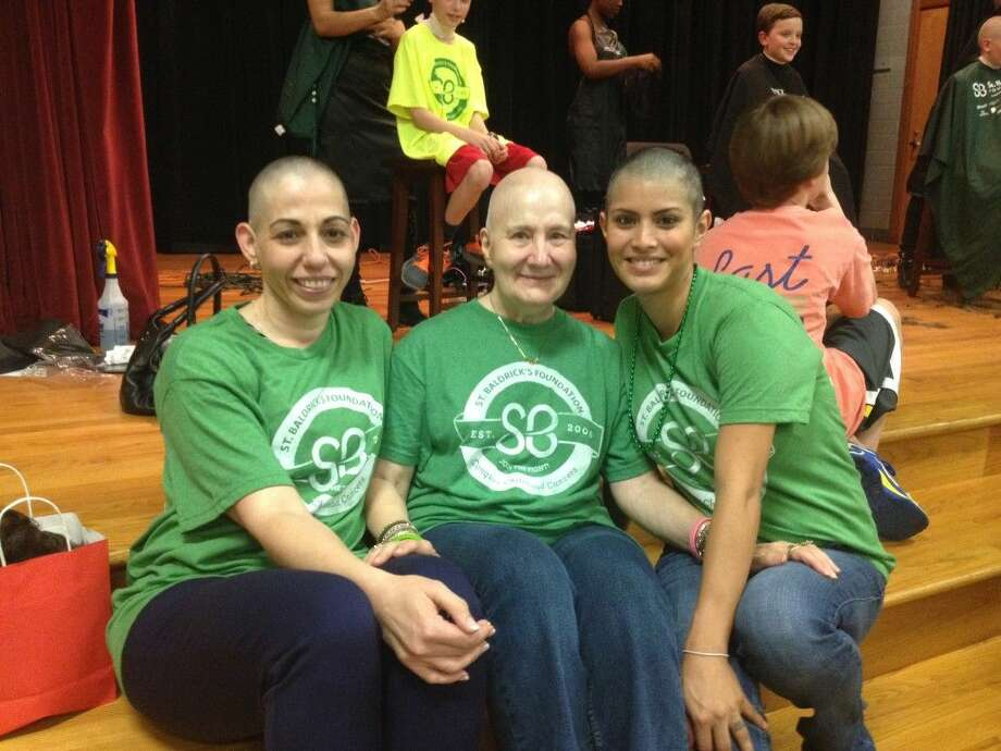 From left, Theresa Dufrene, Nelda Ivey and Alma Gamezy at last year's Houston St. Baldrick's