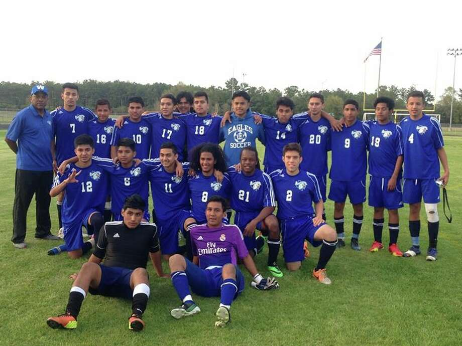 The Willowridge boys soccer team defeated Furr 4-0 in the Class 4A bi-district playoffs March 28. The victory was the first playoff win in program history. Photo: Submitted