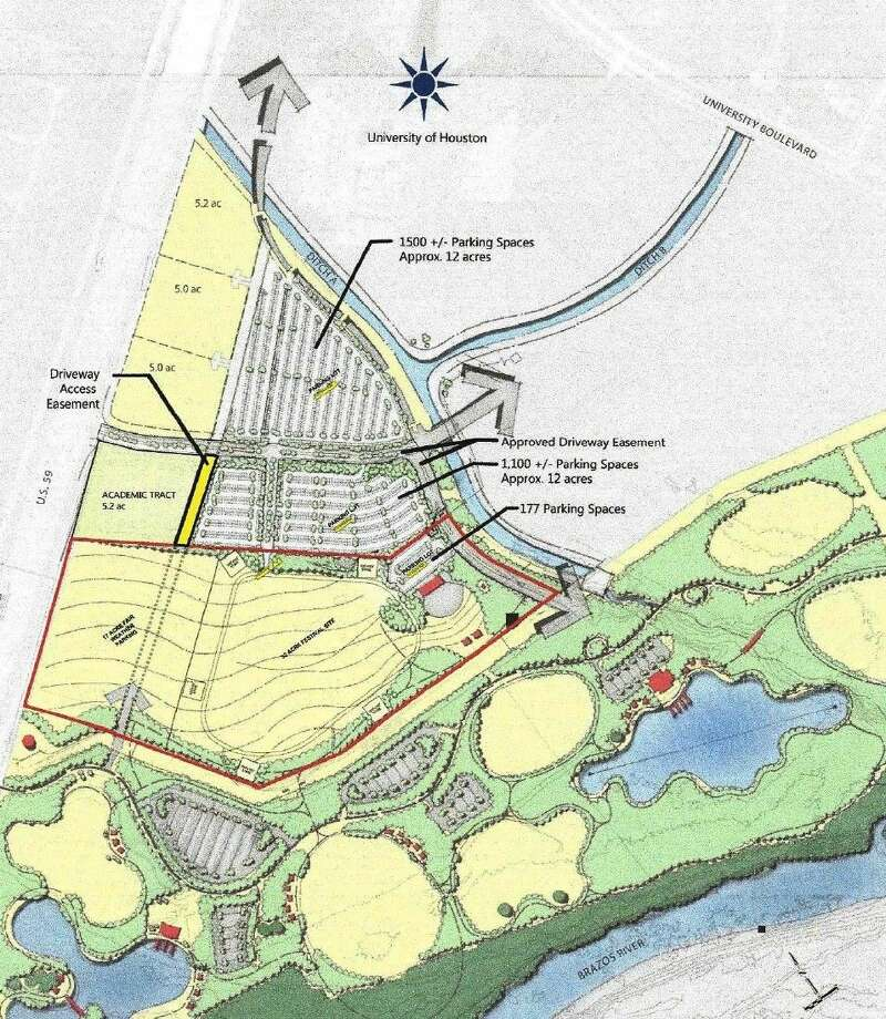 The new festival grounds will be located east of US 59 south of University Blvd.