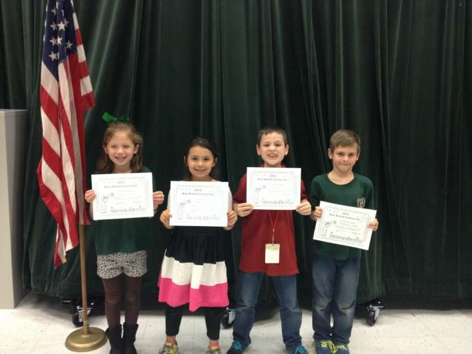 Second grade winners of the Bear Branch Elementary Science Fair were Chloe Mendoza, Maya Ortiz, Aiden Troost and Alexander Goodman.