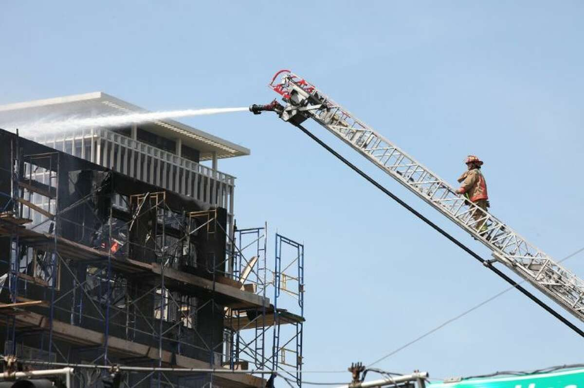 Some 200 HFD units responded to the five-alarm fire that destroyed an apartment complex under construction.