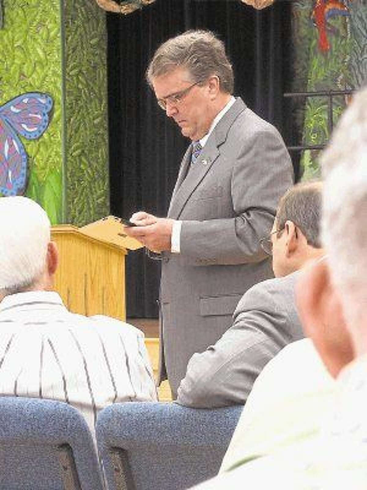 Culberson at a recent town hall meeting.