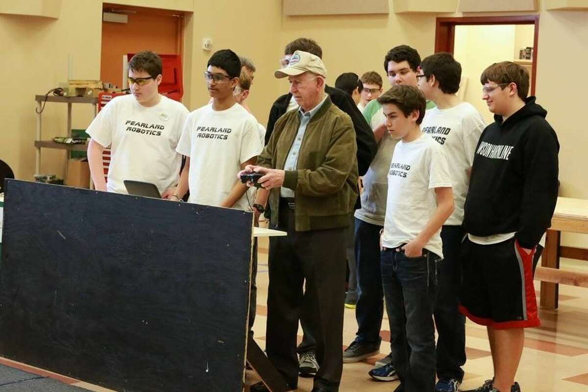 Since starting their first official build season in January Pearadox built two robots designed for the 2015 challenge and has been visited by the PISD Superintendent Dr. John Kelly and Pearland's Mayor, Tom Reid, who both drove the robot on the team practice field.