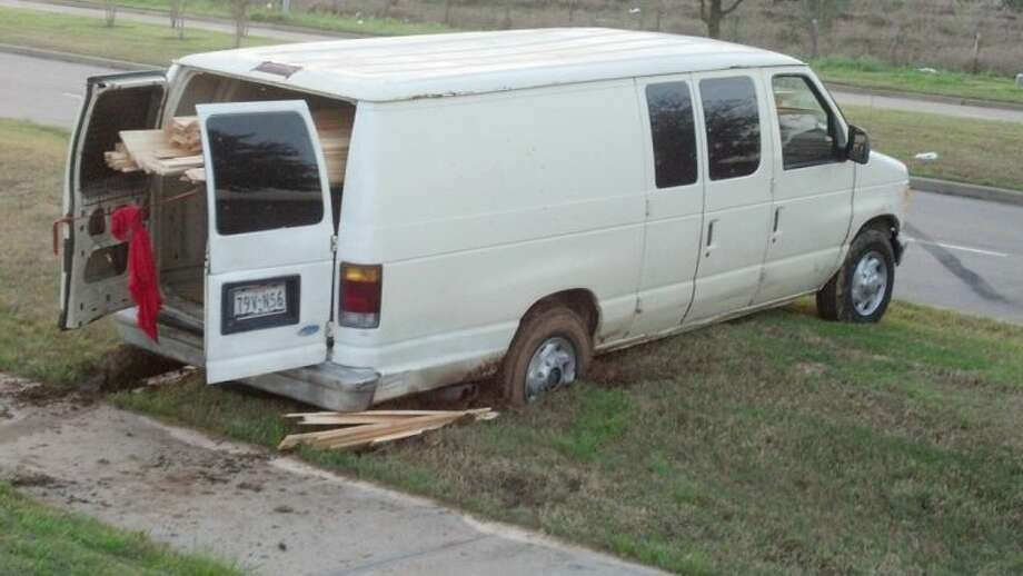 A still image of the van used in a Richmond area construction site theft Thursday morning. Photo: Fort Bend County Crime Stoppers