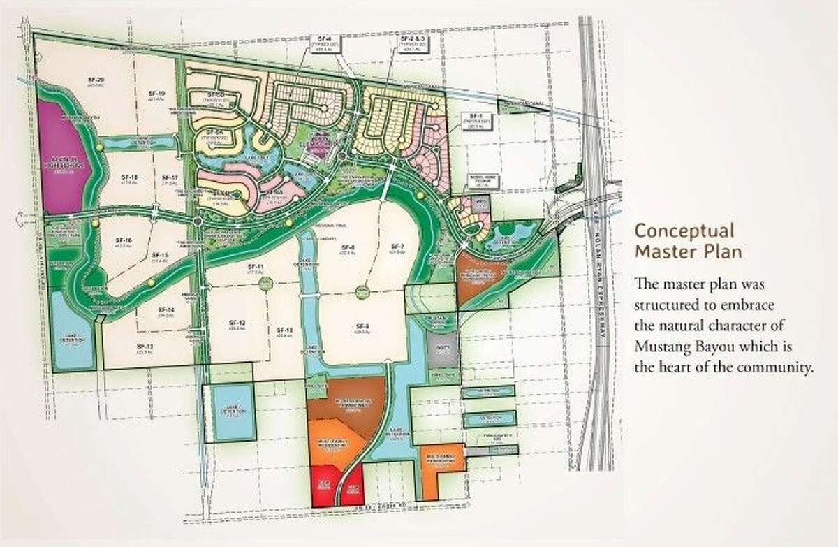 The Conceptual Plan for Pomona (courtesy of Hillwood Communities, Inc.).