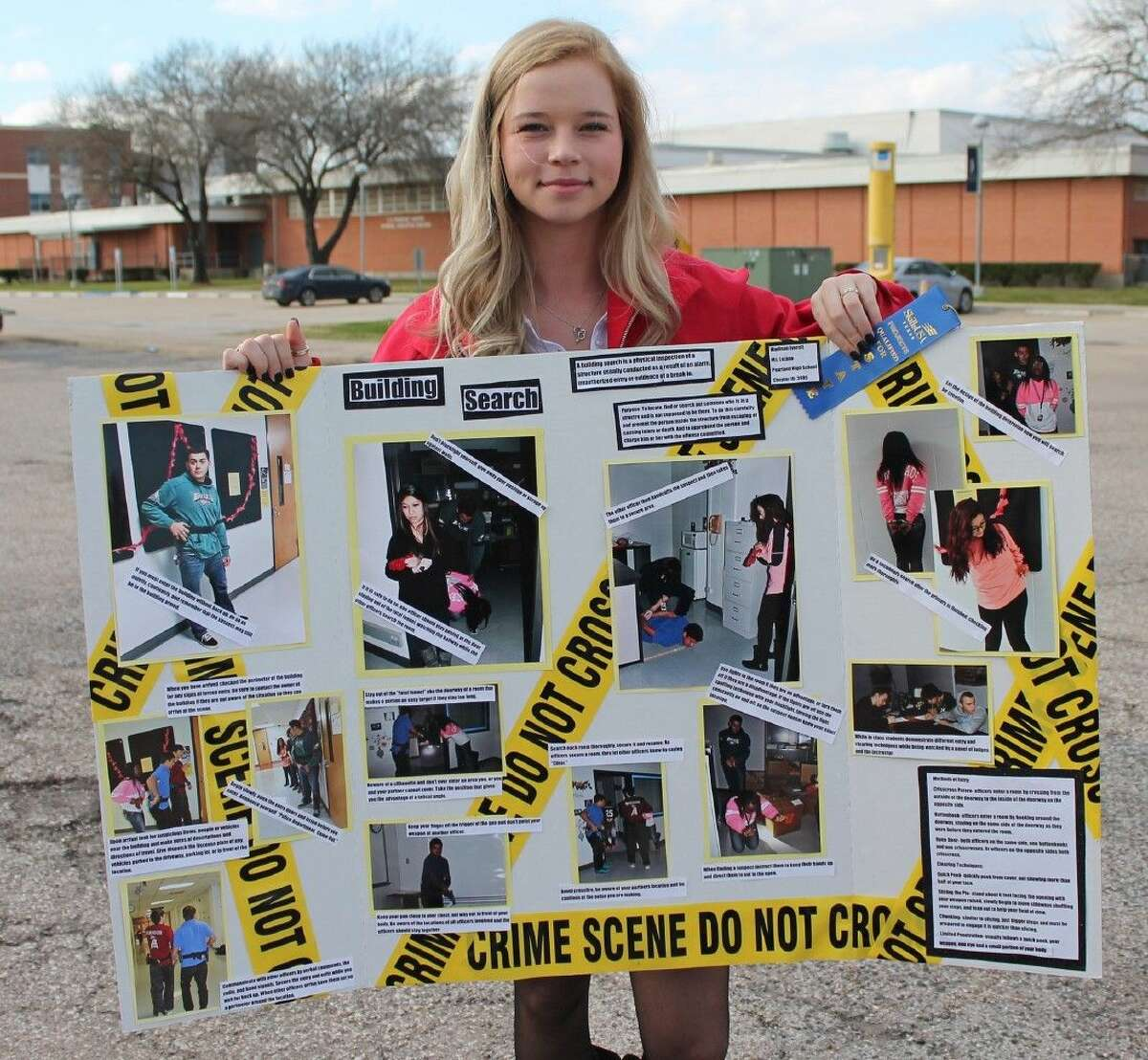 Pearland High School's Madison Everett is advancing to the state SkillsUSA competition in the criminal justice photo panel competition.