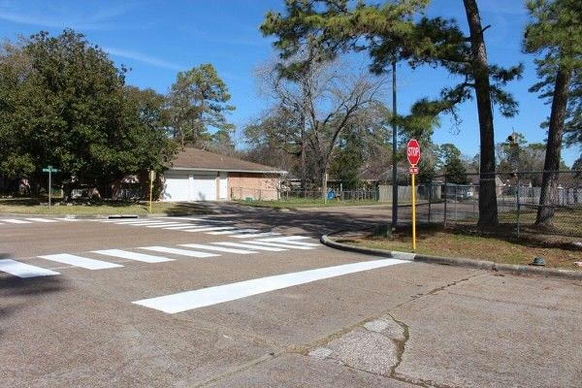 Jenkins Elementary now features new crosswalks thanks to Precinct 4's Road & Bridge Department.