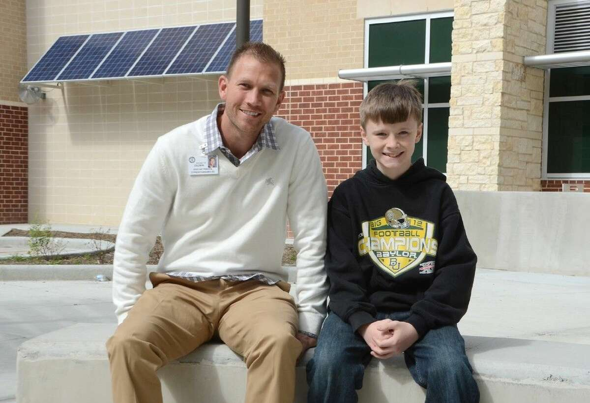 When Anthony Middle School Assistant Principal, Blake Coleman, saw sixth-grade student, Grayson Barger, choking in the cafeteria on Feb. 13, he reacted quickly to perform the Heimlich maneuver and helped save his life.