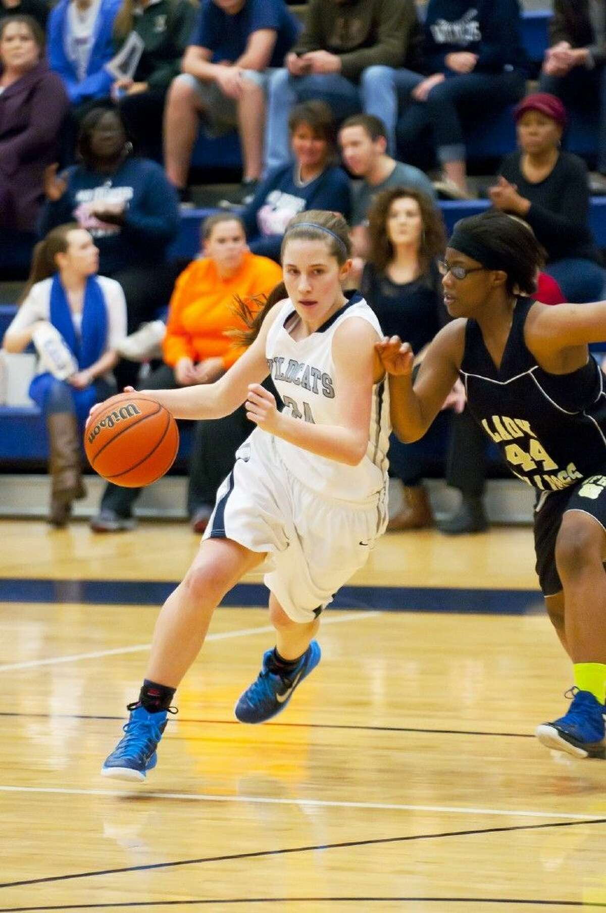 Emily Chaffin (No.24) helped Tomball Memorial drive past North Forest in the bi-district round. Tomball Memorial was one of four district 19-5A squads to win in the bi-district round