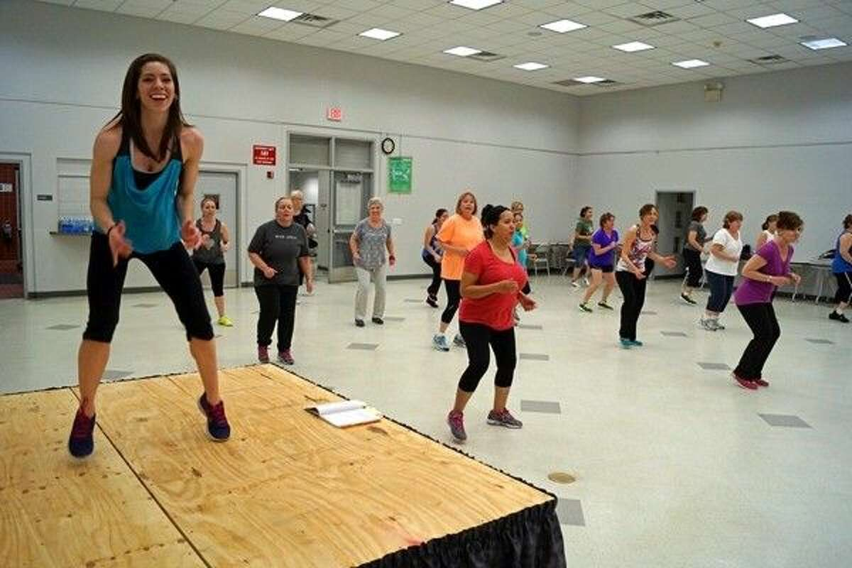 Certified instructor Alexa Arndt leads Zumba at Tomball Community Center, sponsored by Harris County Precinct 4.
