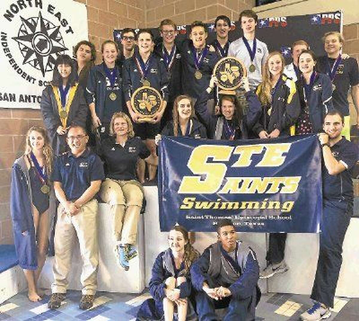 Both the St. Thomas Episcopal boys and girls swim teams won TAPPS 3A state championships in February to cap off a terrific season for both teams.