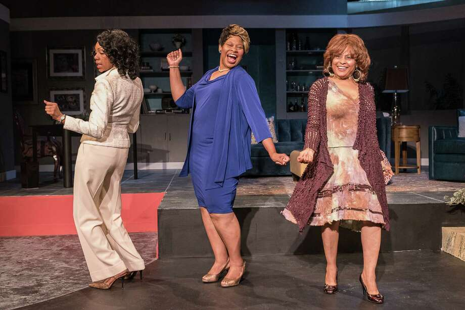 "Detria Ward, from left, Alice M. Gatling and Michele Harrell star in the Ensemble Theatre production of ""Sassy Mamas"" Photo: Courtesy Of The Ensemble Theatre"