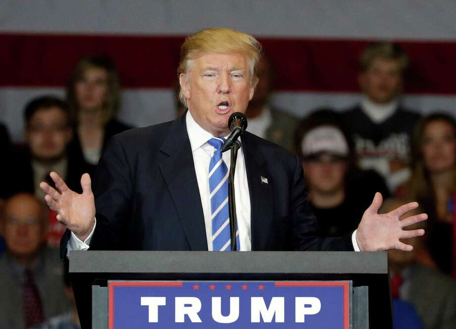 Republican presidential candidate Donald Trump speaks at a rally, in Waukesha, Wisconsin. Our readers continue to comment on the race between Trump and Democratic nominee Hillary Clinton. Photo: John Locher /Associated Press / Copyright 2016 The Associated Press. All rights reserved.