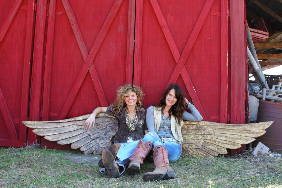 Sisters Amie Sikes, left, and Jolie Sikes have built an empire gussying up flea-market junk. / ONLINE_YES