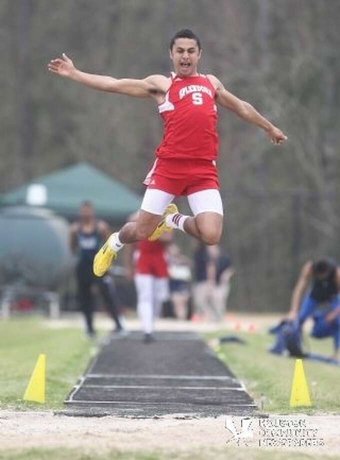 Splendora High School senior Kagan Angers is taking his record-breaking track career to SHSU next fall. Photo: Submitted Photo