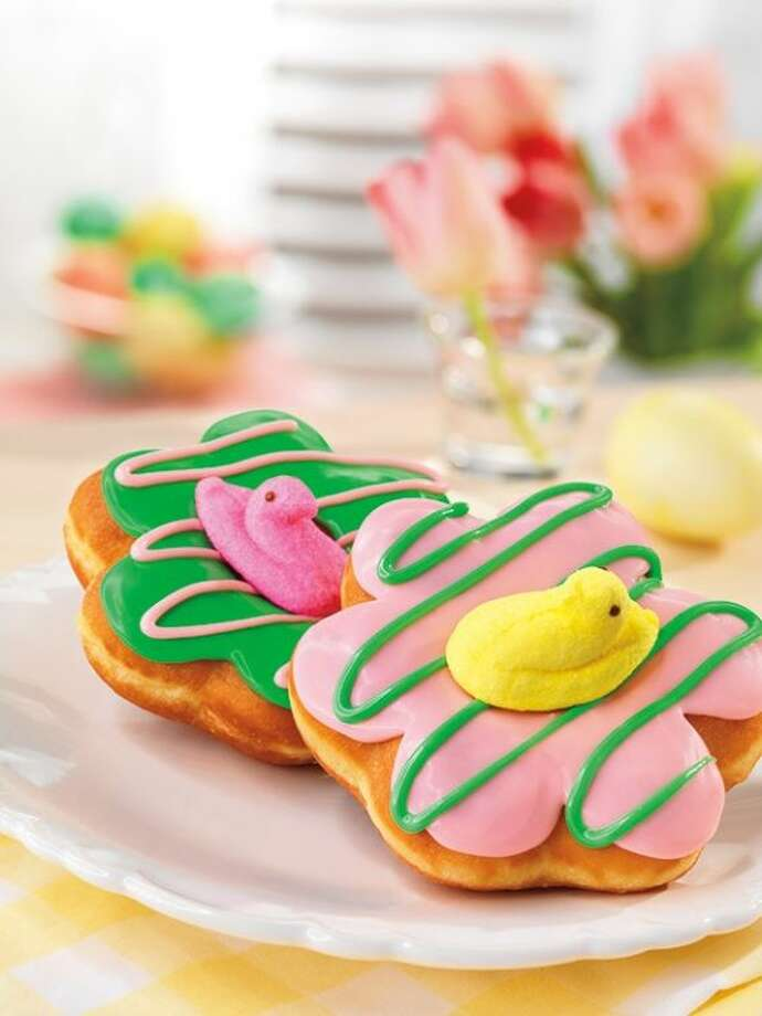 Dunkin' Donuts, America's all-day, everyday stop for coffee and baked goods, today unveiled new PEEPS Donuts, its first-ever donuts topped with a real PEEPS Marshmallow Chick. Photo: Jim Scherer