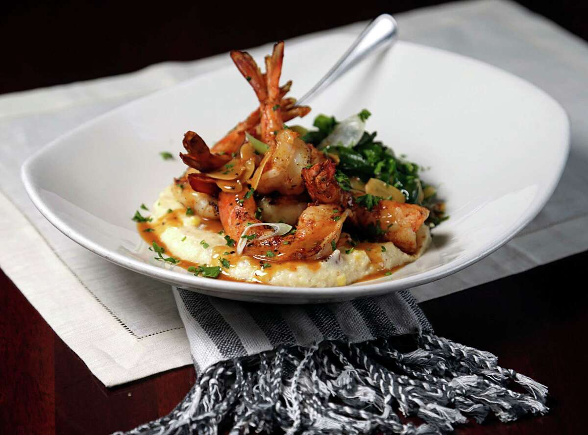 Gulf Shrimp & Grits are on offer at Pappadeaux Seafood Kitchen.