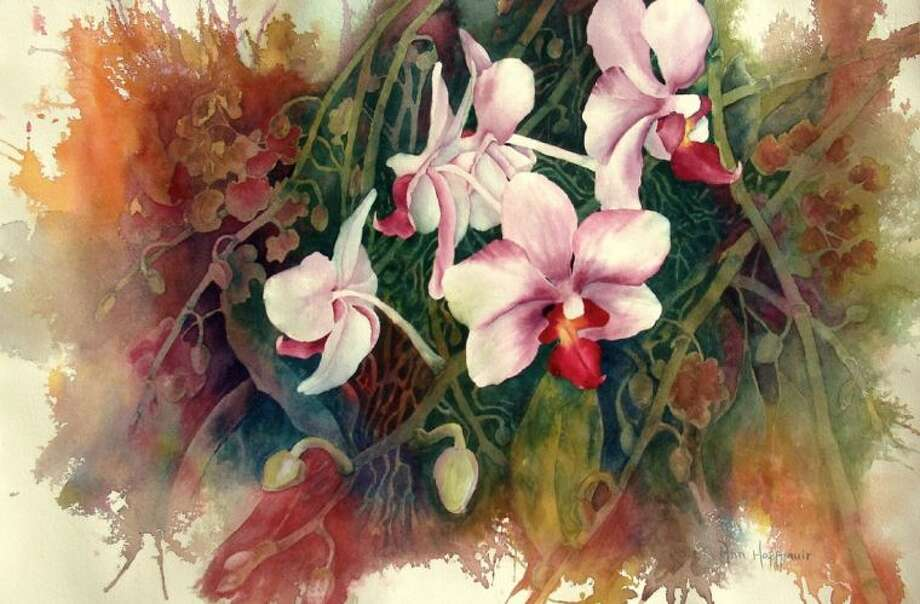 """Orchids"" by Ann Hoffpauir, the guest artist who will lead the ""Painting with Water Colors"" demonstration at University Branch Library Saturday, April 26. Photo: Photo Courtesy FBCL"