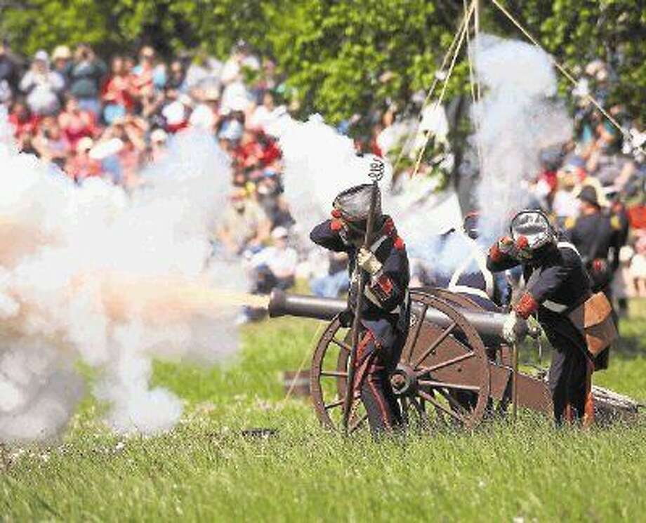 Santa Anna's Mexican Army fires off a cannon during the annual celebration of the Battle of San Jacinto April 20, 2013 at the San Jacinto Battleground State Historic Site in La Porte, just east of Houston. Photo: Kar B Hlava