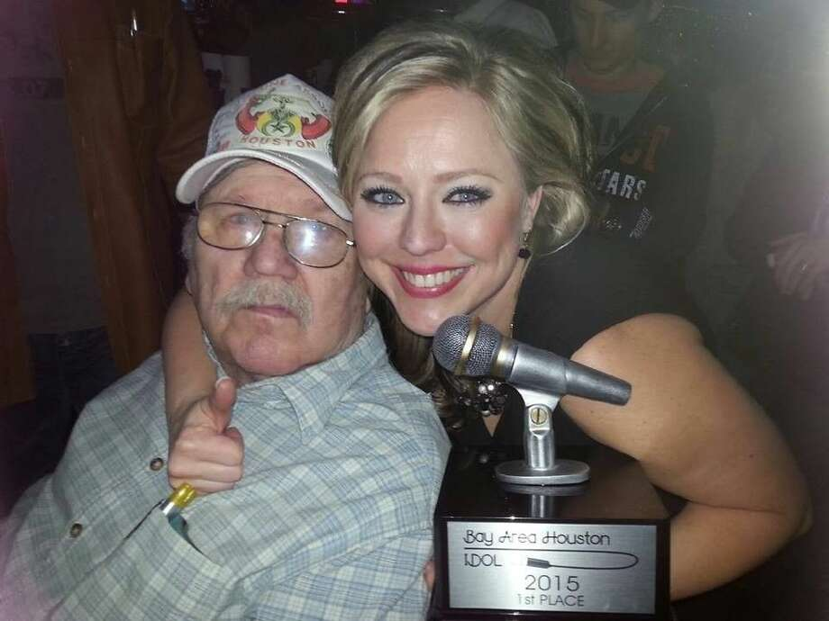 This year's Bay Area Houston Idol winner, Heather Miller dedicated her win to her father (pictured) and the memory of her mother. Photo: Y.C. Orozco