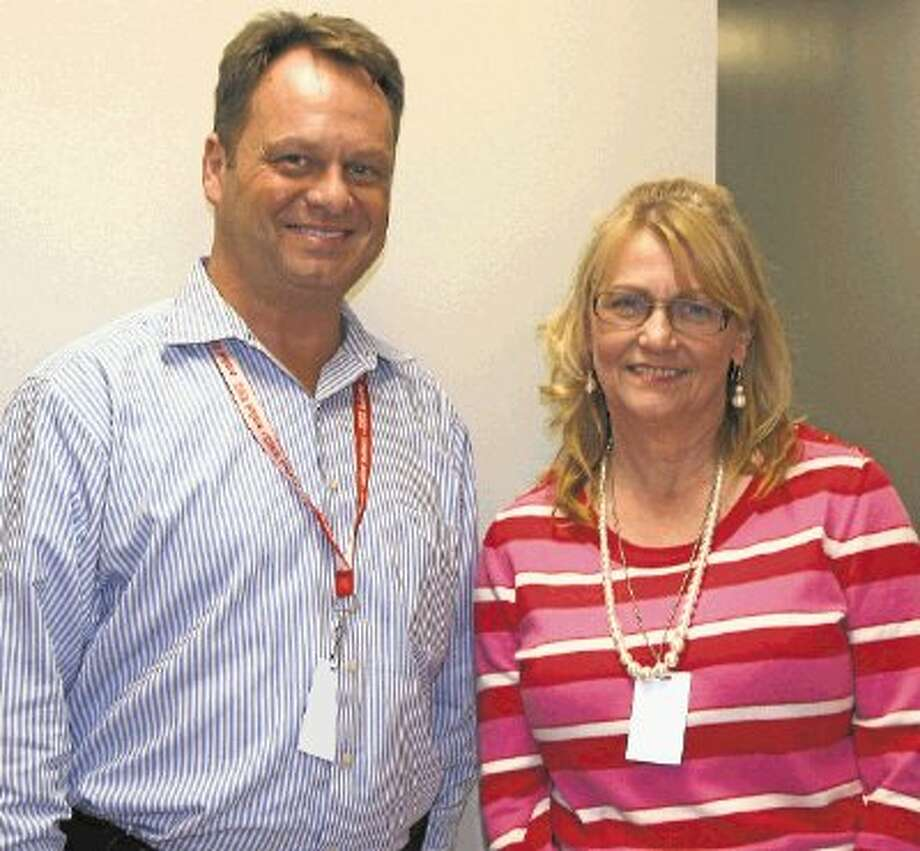Cleveland High School Principal Stephen McCanless recently hired Kimberlee Parmer to help the district's at-risk youth. Photo: STEPHANIE BUCKNER / @WireImgId=2668443