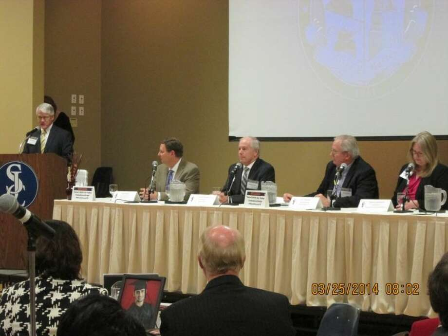 Pictured, left to right are: Steve Skarke, Gordie Keenan, Don Empfield and Katrina Lambrecht. Photo: Erica Drexler