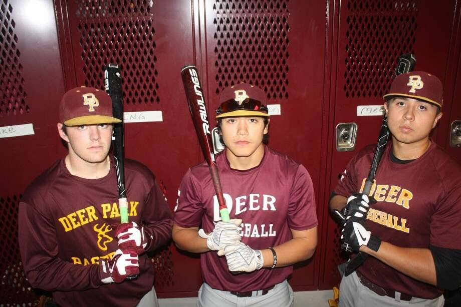 From L-R, Tyler Smith, Rey Fuentes and Ruben Almaguer, three of Deer Park's returning all-district players, have helped the team to a 6-0 start. Photo: Robert Avery