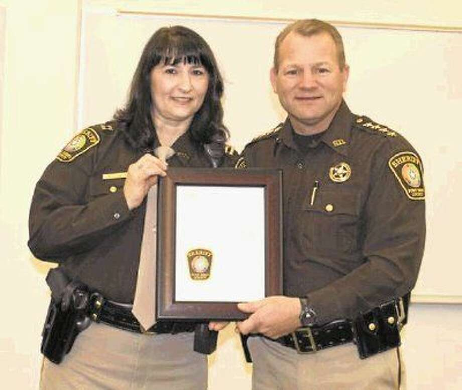 Hillegeist, left, with Fort Bend County Sheriff Troy Nehls Photo: Picasa