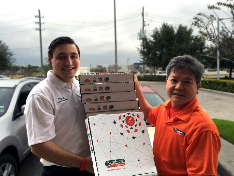 David Gantcher (left) and Vuong Vu, owners of a Sarpino's Pizzeria in Houston and Atascocita.