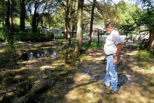 Some Seguin residents blaming sewer line for swamplike