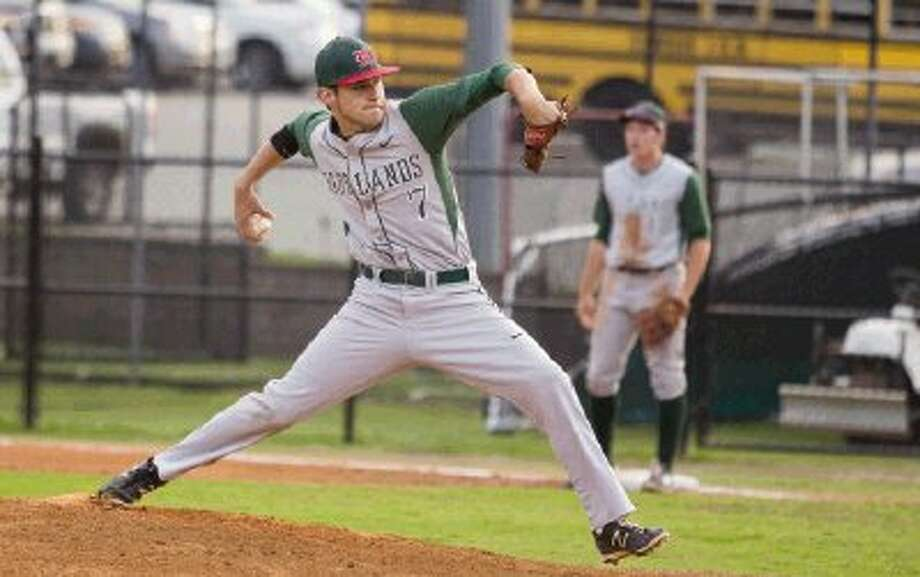 The Woodlands' Luke Sherley pitches against Conroe on Friday night. The Woodlands won 19-2. To view or purchase this photo and others like it, visit HCNpics.com. / The Conroe Courier/ The Woodland
